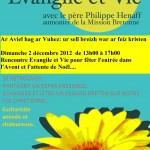 Evangile et Vie 2 décembre 2012