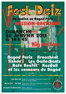 Fest-deiz Bagad Pariz 2013