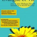 Affiche Evangile et Vie février 2013