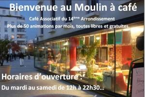 Moulin à café, café associatif