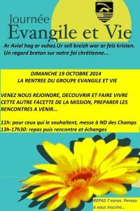Affiche Evangile et Vie oct 14