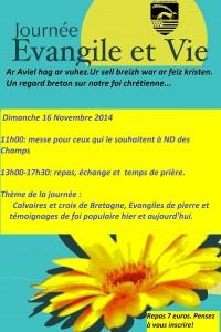 Affiche Evangile et Vie nov 2014