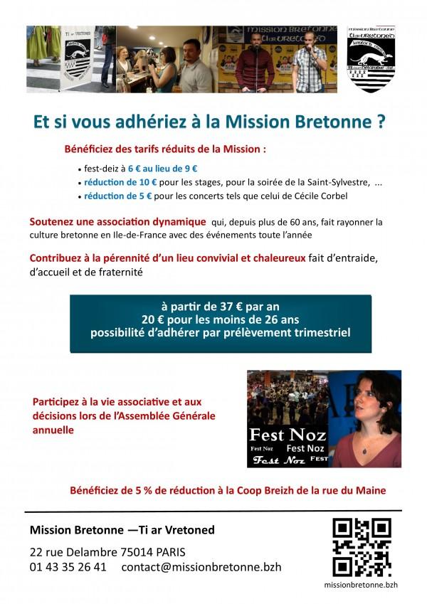 Et si vous adhériez à la Mission Bretonne ?