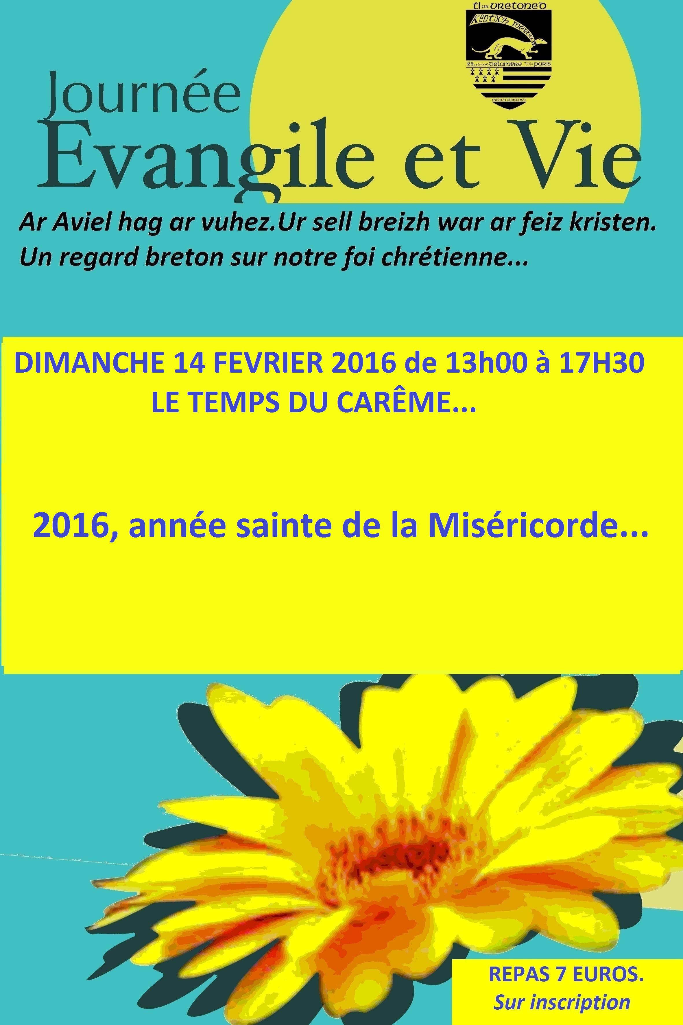 Affiche Evangile et Vie  février 2016 (2)