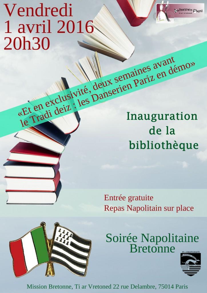 soirée italienne ouverture bibliotheque_