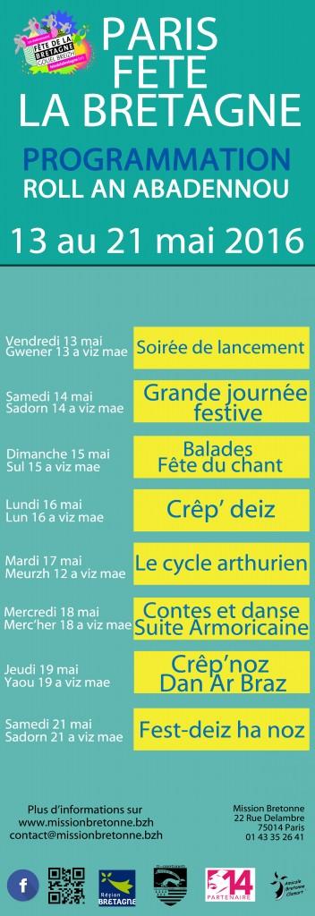 Verso programme Fête de la Bretagne 2016