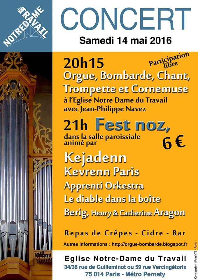 Affiche Fest-noz concert et fest-noz à Paris