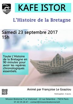 Kafe Istor exceptionnel : toute l'Histoire de la Bretagne